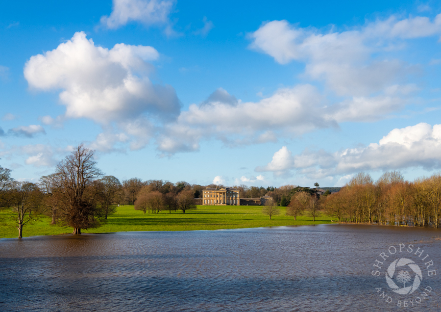 Watery scene at Attingham Park