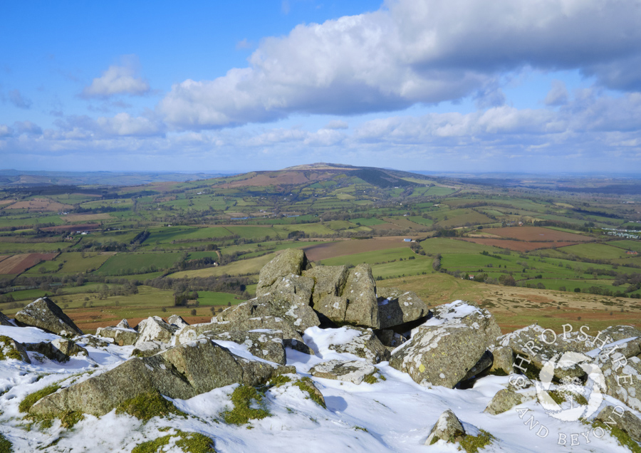 Sun and snow on the Clee Hills