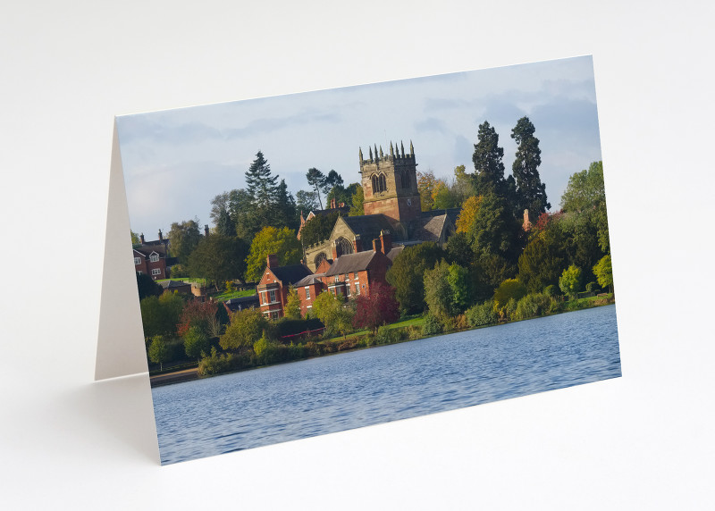The Mere and St Mary's Church at Ellesmere, Shropshire.