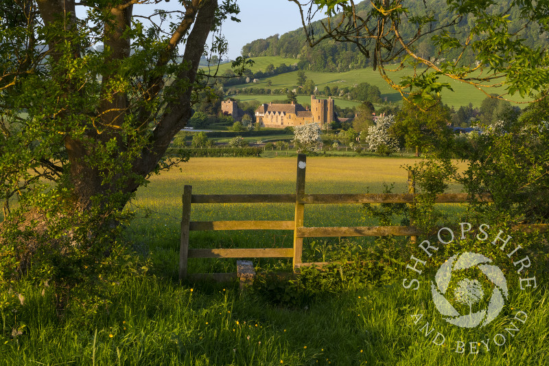 A stile and footpath leading to Stokesay Castle, Shropshire.