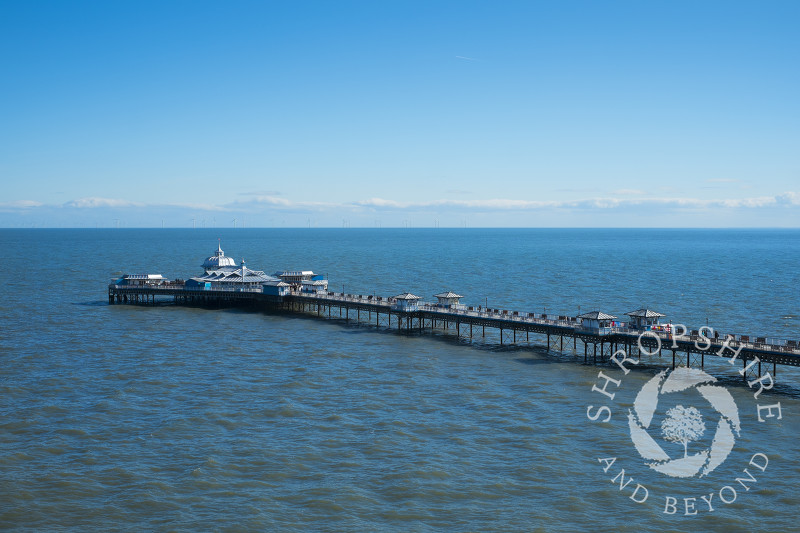 The pier stretches out into the Irish Sea at Llandudno, north Wales.