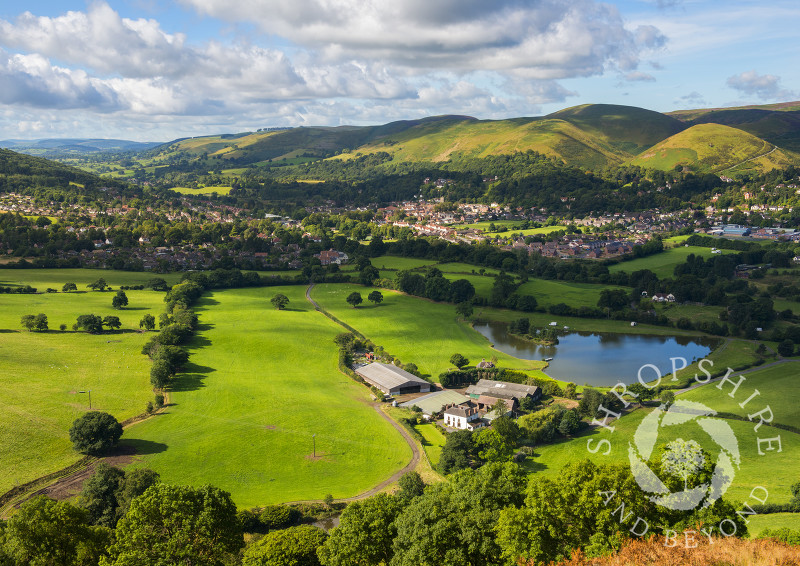 The town of Church Stretton nestles under the Long Mynd in Shropshire.