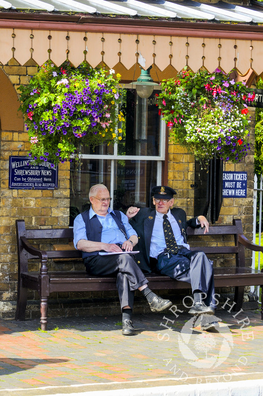 Time for a break at Hampton Loade Station, Severn Valley Railway, Shropshire, England.