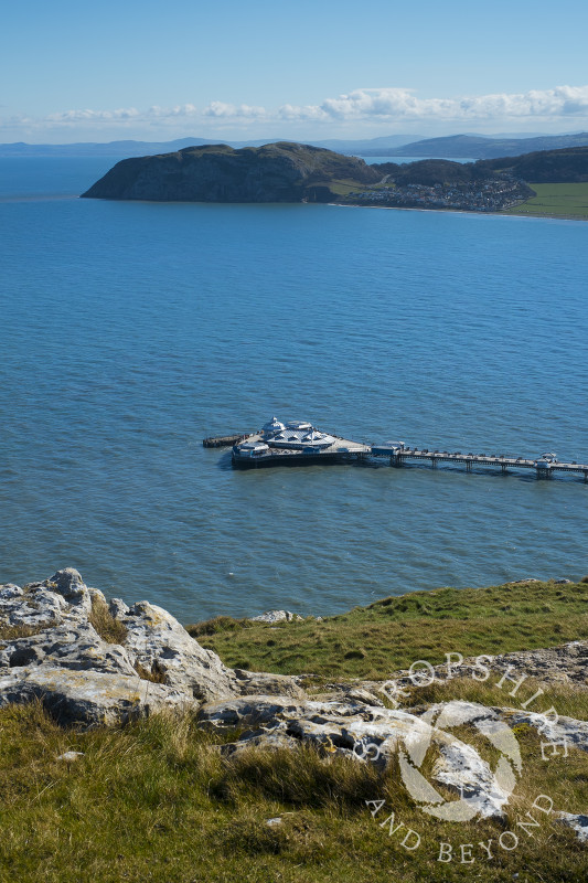 Llandudno Pier and the Little Orme seen from the Great Orme.