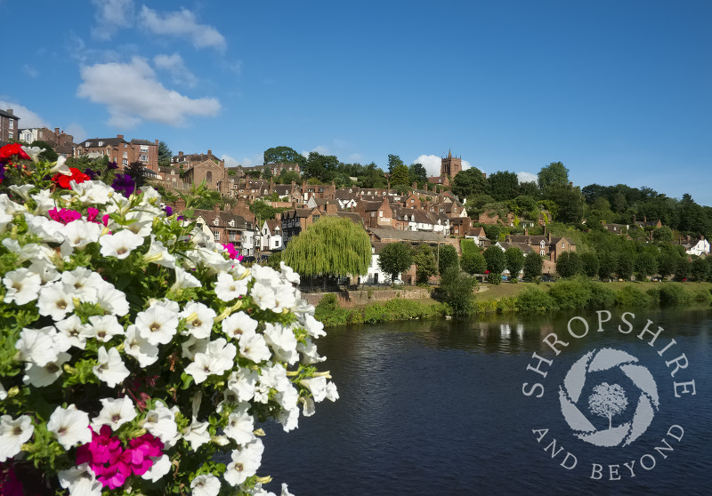 Bridgnorth and the River Severn in summer, Shropshire, England.