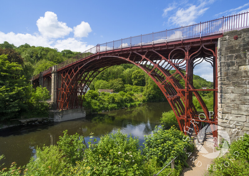 The Iron Bridge at Ironbridge, Shropshire.