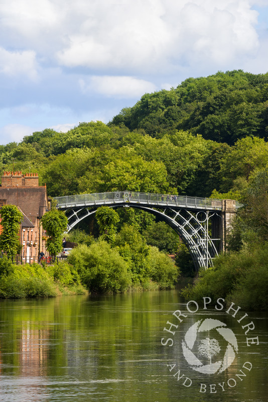 The Iron Bridge and River Severn in Ironbridge, Shropshire.