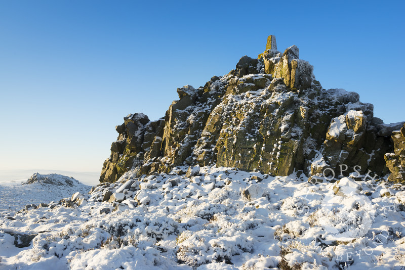 Winter on the Stiperstones, Shropshire, England.