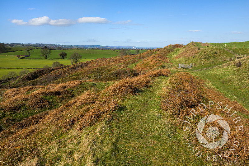 The ramparts of Old Oswestry Hill Fort in north Shropshire.