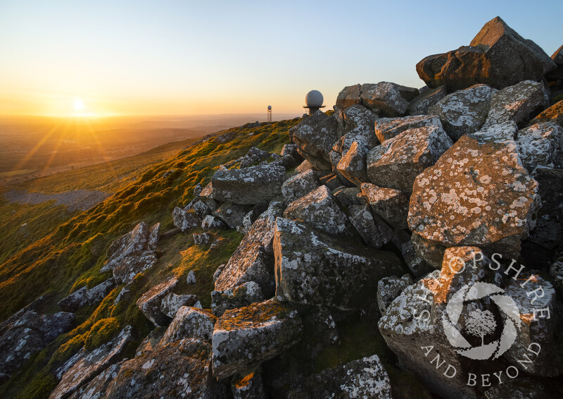 Sunrise on Titterstone Clee, Shropshire.
