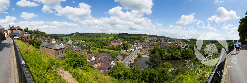 A panoramic view of Bridgnorth and the Severn Valley, Shropshire, England.
