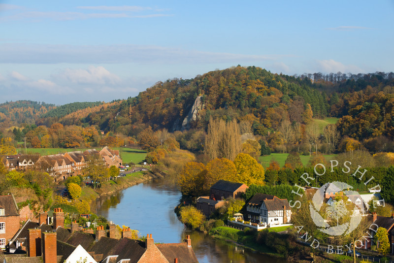 High Rock and the River Severn seen from High Town in Bridgnorth, Shropshire, England.