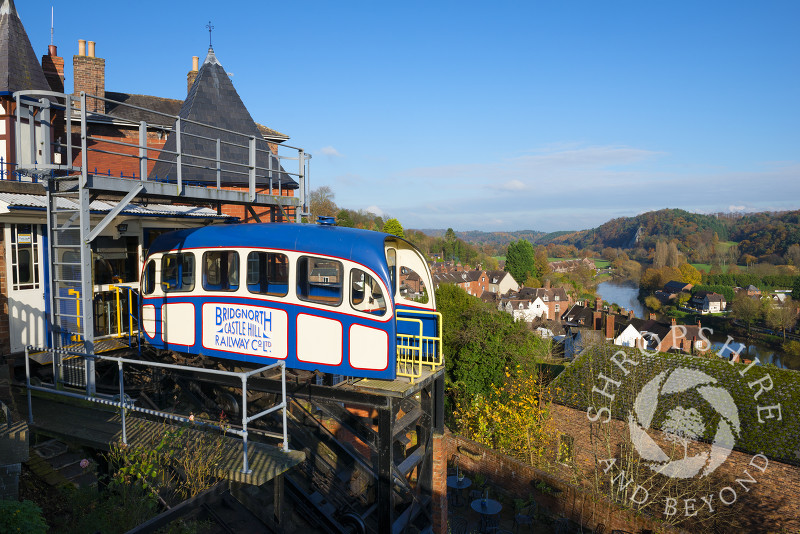 The Cliff Railway at Bridgnorth, Shropshire, England.