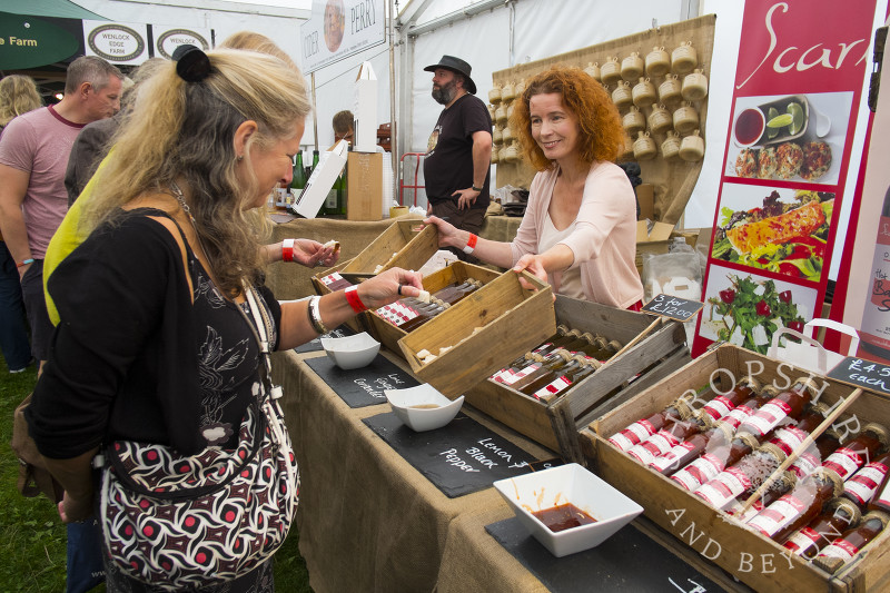 Bronwen Ramsay of Scarlet Angel Ltd at the 2014 Ludlow Food Festival, Shropshire, England.
