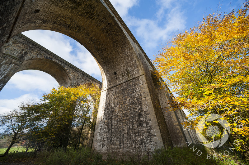 Chirk Aqueduct and viaduct on the English/Welsh border.