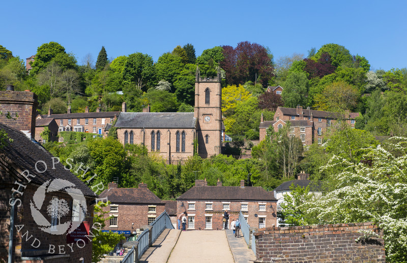 Ironbridge looking spectacular in spring sunshine, Shropshire.