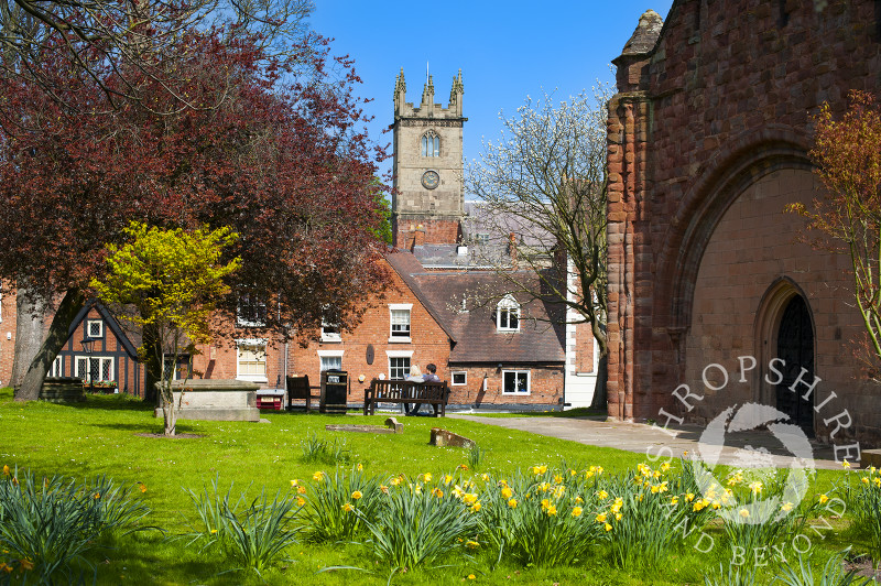 St Julian's Church seen from Old St Chad's Church, Shrewsbury, Shropshire.