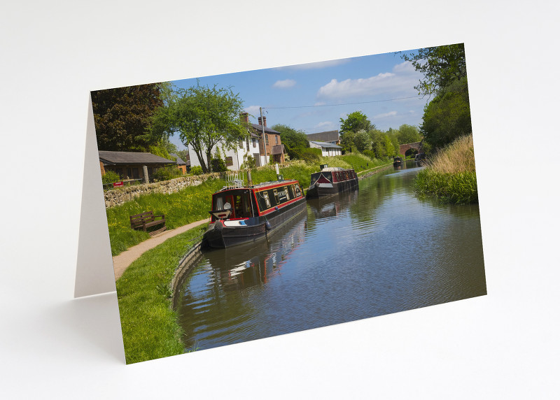 The Llangollen Canal at Whitchurch, Shropshire.