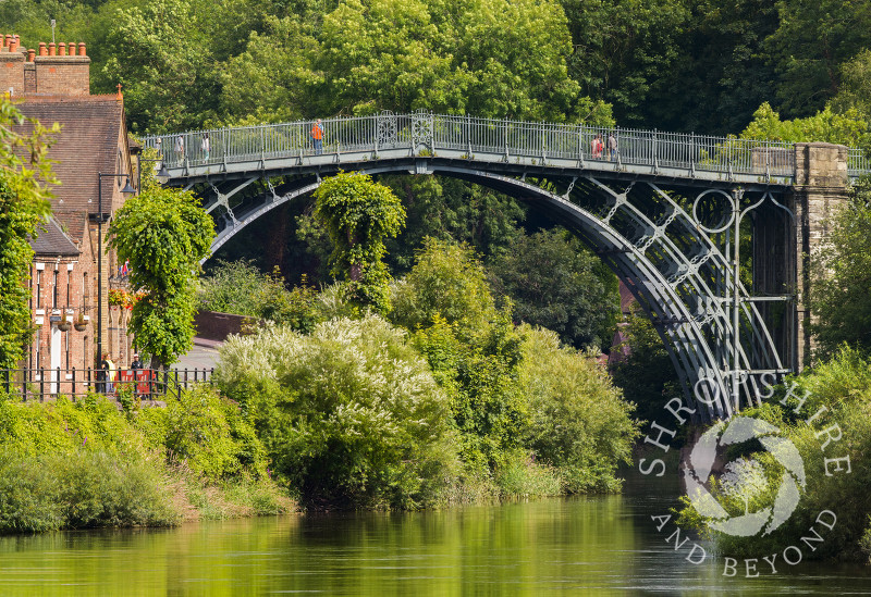 The Iron Bridge over the River Severn at Ironbridge in Shropshire.