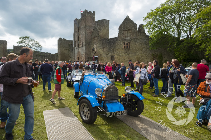 Bugatti in the castle grounds at the 2017 Ludlow Spring Festival.