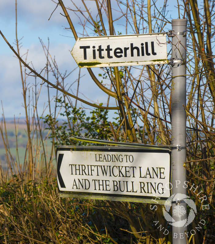 Unusual place names in the countryside near Ludlow, Shropshire.
