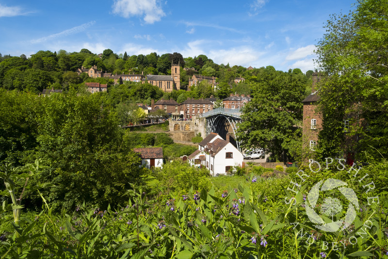 Springtime at Ironbridge, Shropshire.
