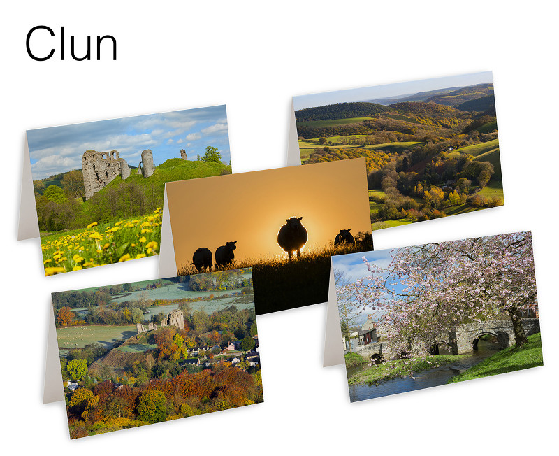 Pack of 5 Clun Greetings Cards