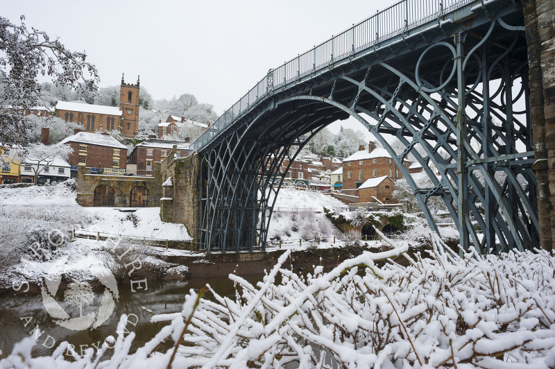 Ironbridge in winter, Shropshire.