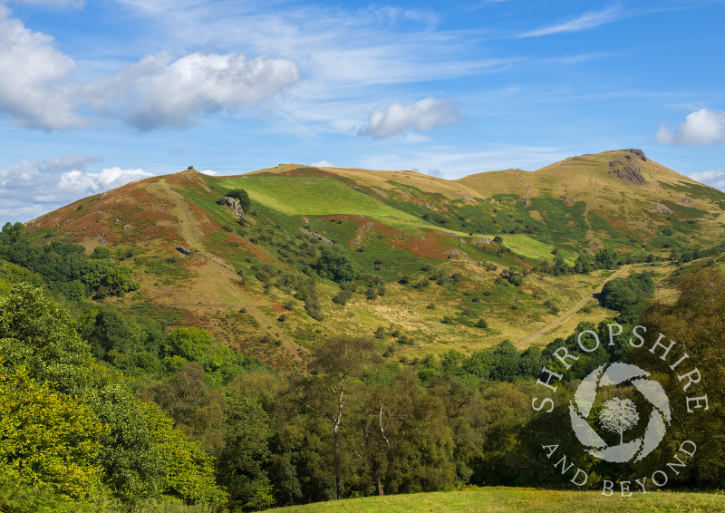 Blue skies over Caer Caradoc, Shropshire, in summer.