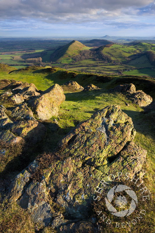 Early morning light on Caer Caradoc in the Shropshire Hills.