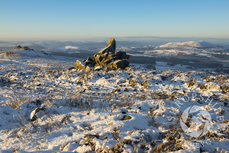Early morning light on the Stiperstones and Corndon Hill, Shropshire, England.