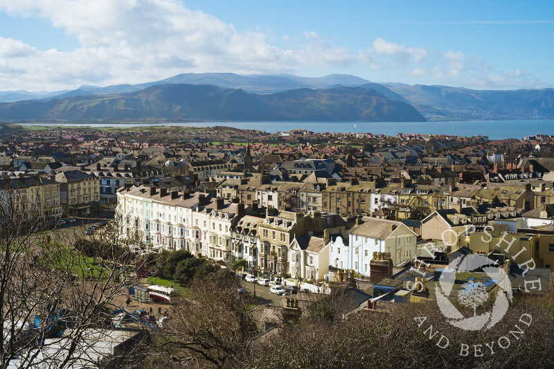 The view from Happy Valley looking down on Llandudno, North Wales.