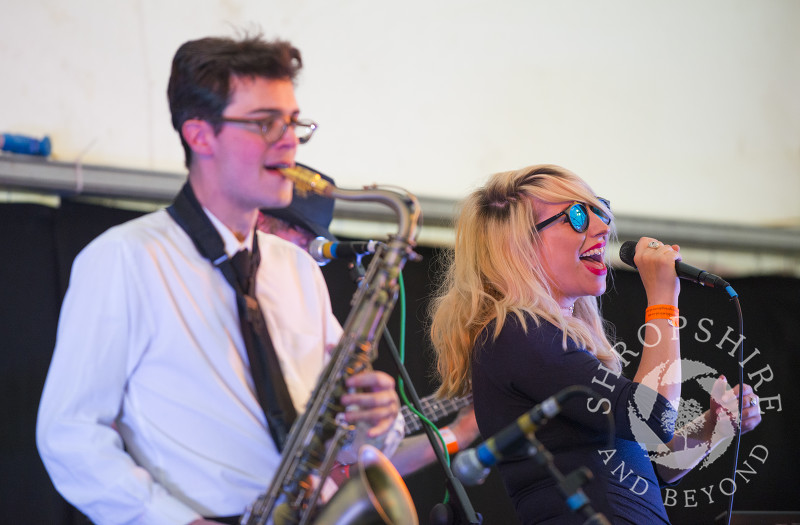 Groove City performing in the Festival Pub at the 2017 Ludlow Spring Festival.