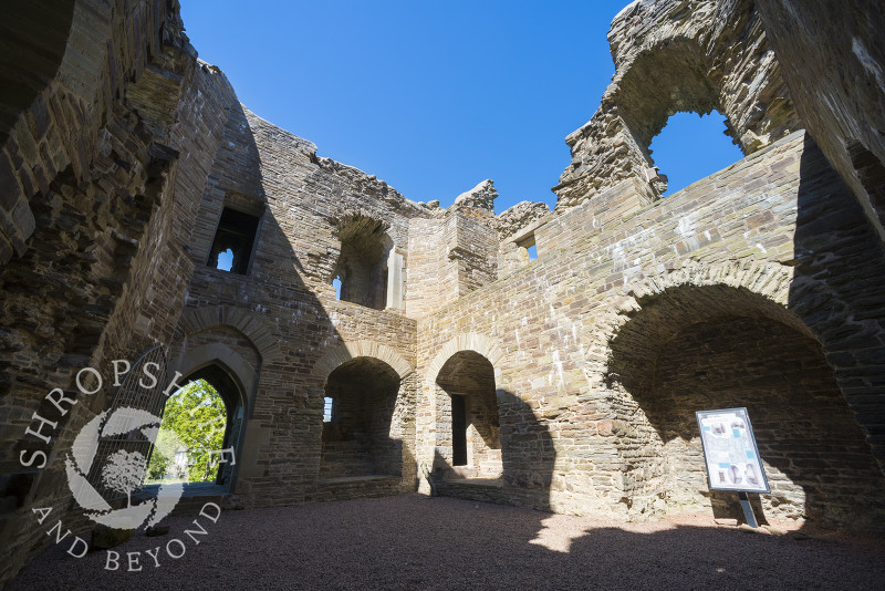 The interior of Hopton Castle in south Shropshire.