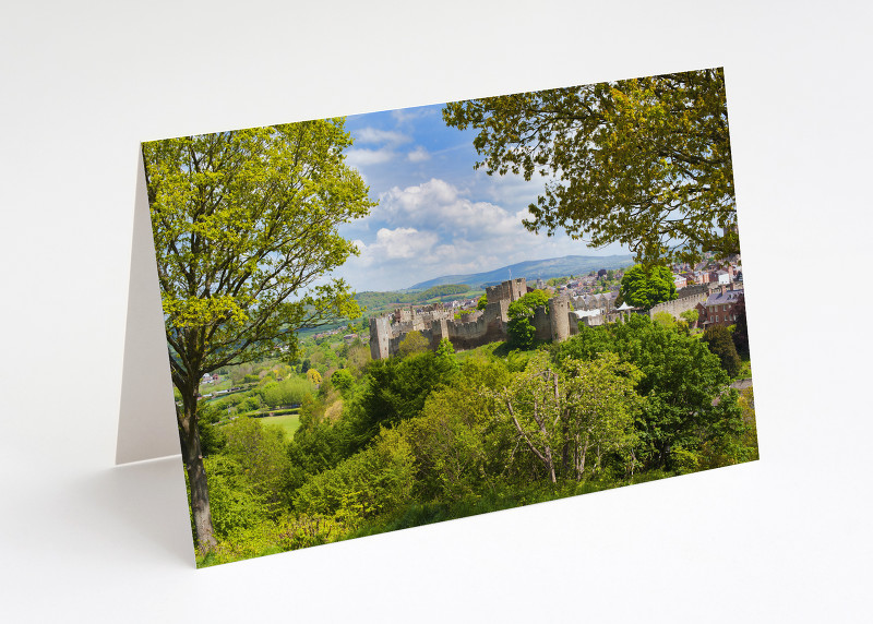 Ludlow Castle seen from Whitcliffe Common, Shropshire.