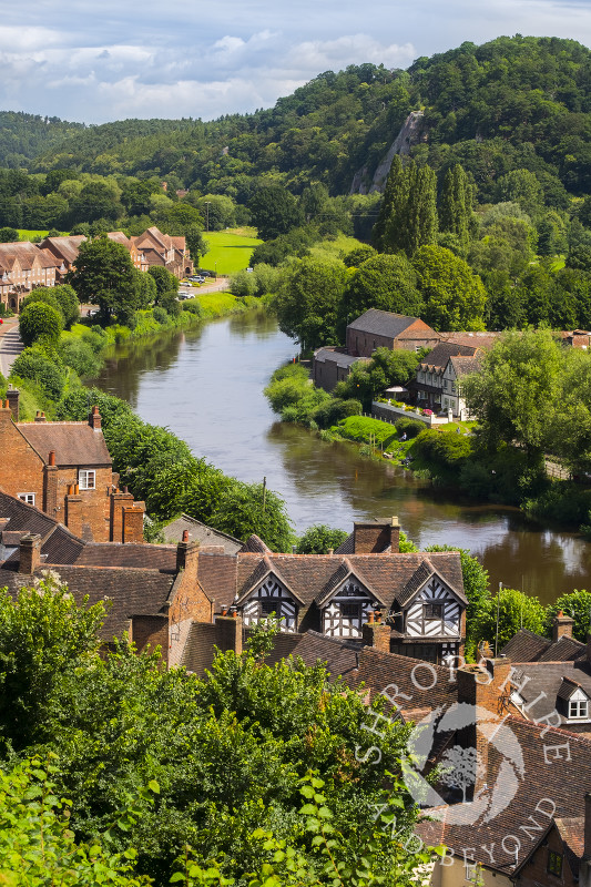 Low Town and the River Severn in Bridgnorth, Shropshire.