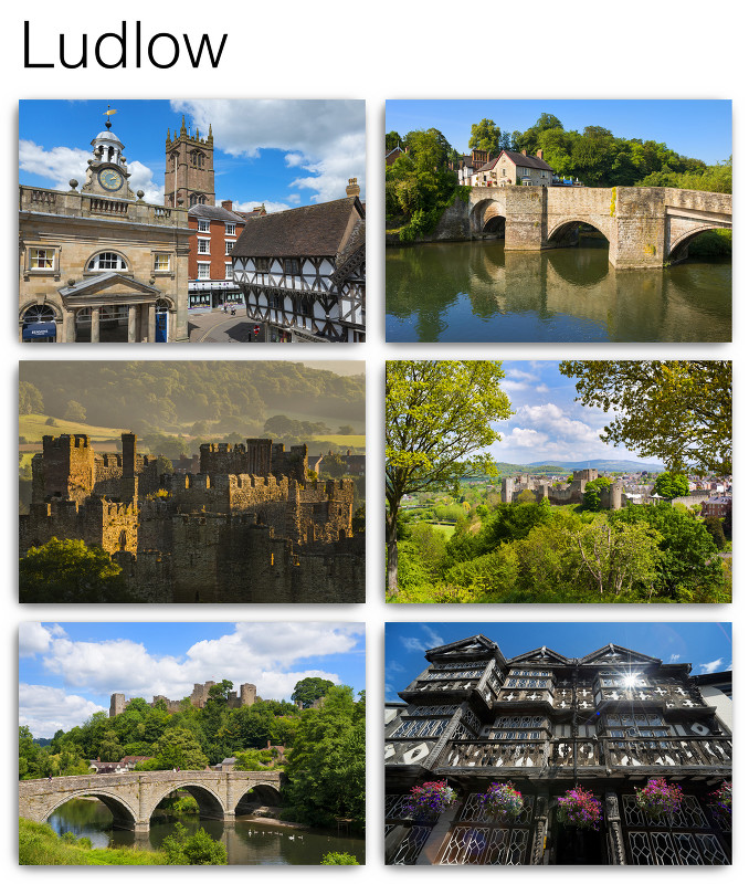 Pack of 6 Ludlow Postcards
