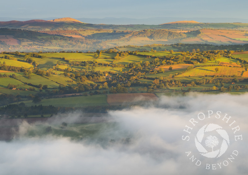 View over Corvedale from Titterstone Clee, Shropshire.