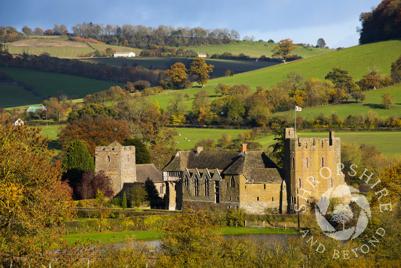 Autumn at Stokesay Castle, Shropshire.
