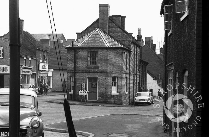 The Registrar's Office seen from Broadway, Shifnal, Shropshire, in 1965.