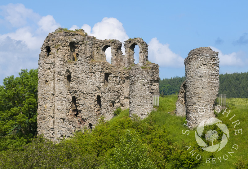 The ruins of Clun Castle, Shropshire.