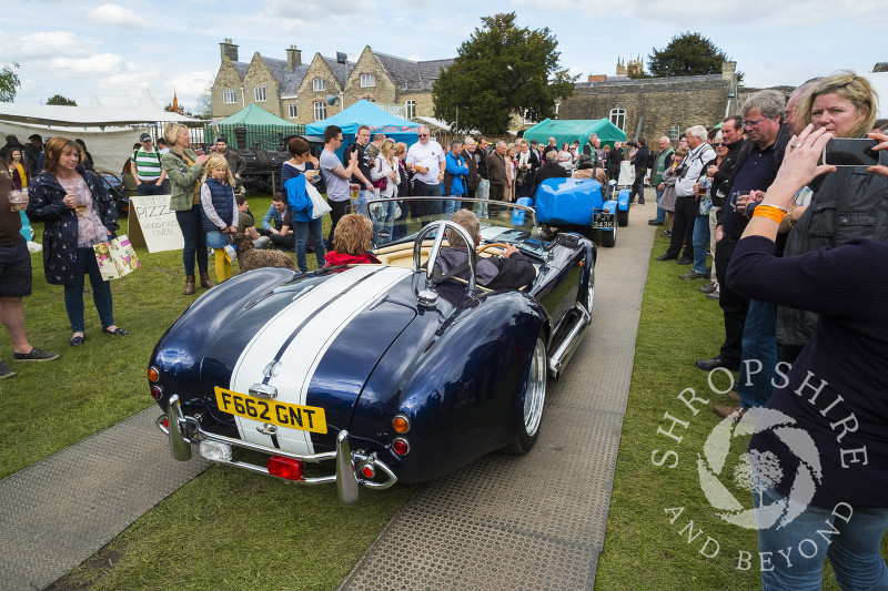 AC Cobra in the castle grounds at the 2017 Ludlow Spring Festival.