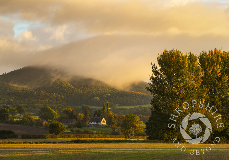 Low cloud at sunrise over the Wrekin, Shropshire.