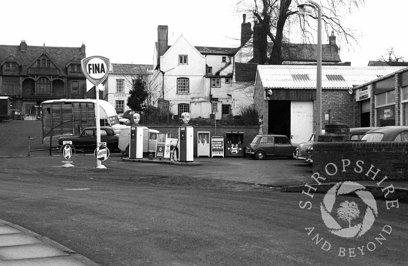 Church Street Garage in Shifnal, Shropshire, in 1965.