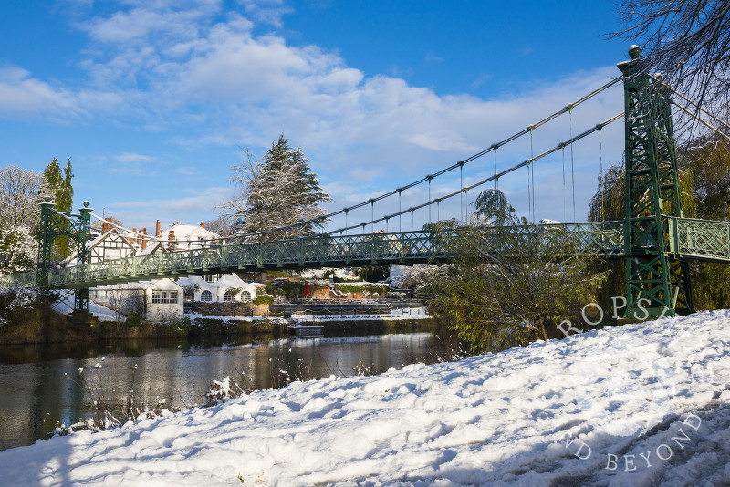 Porthill Bridge over the River Severn in Shrewsbury, Shropshire.