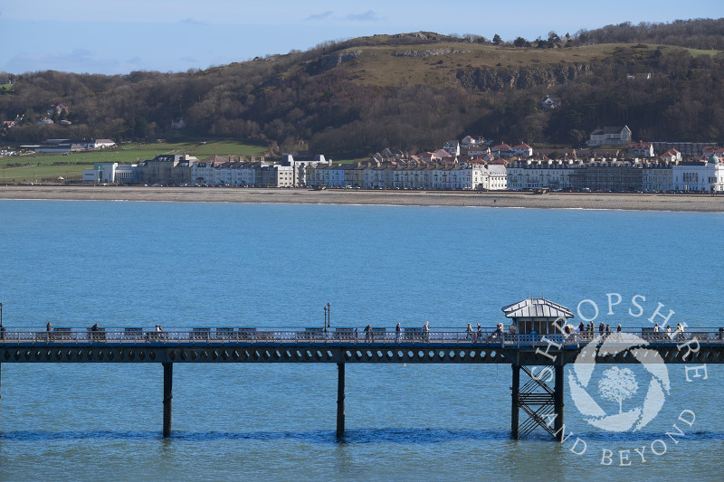 The pier and Victorian promenade at Llandudno, north Wales.