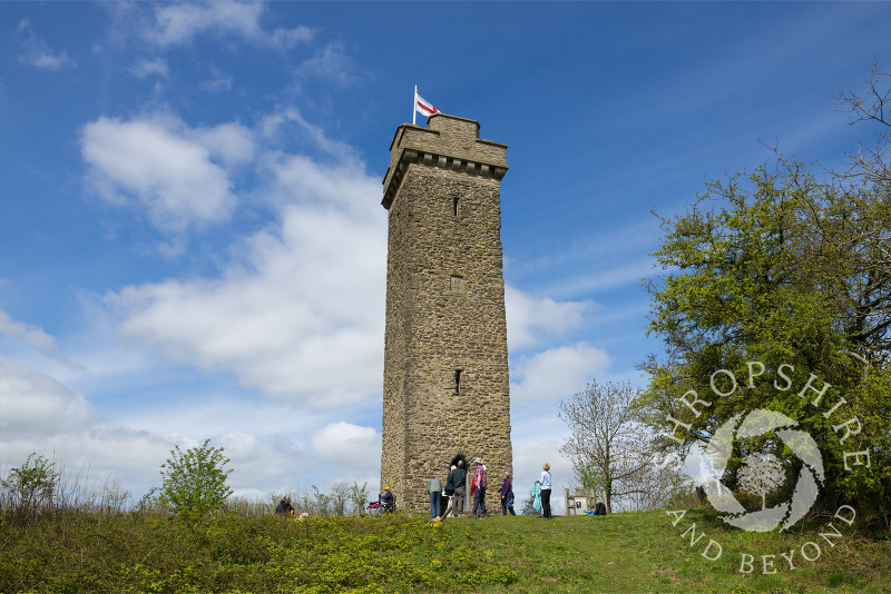 Flounders' Folly on Callow Hill near Craven Arms, Shropshire, England.