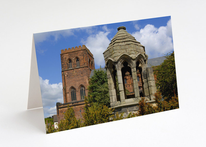 Shrewsbury Abbey and the old refectory pulpit, Shropshire.