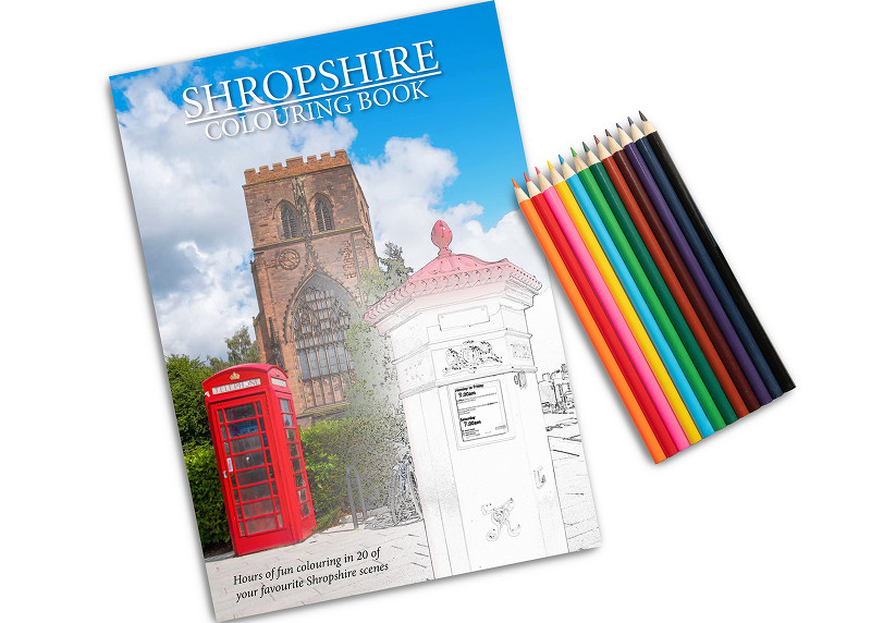 A4 Shropshire Colouring Book