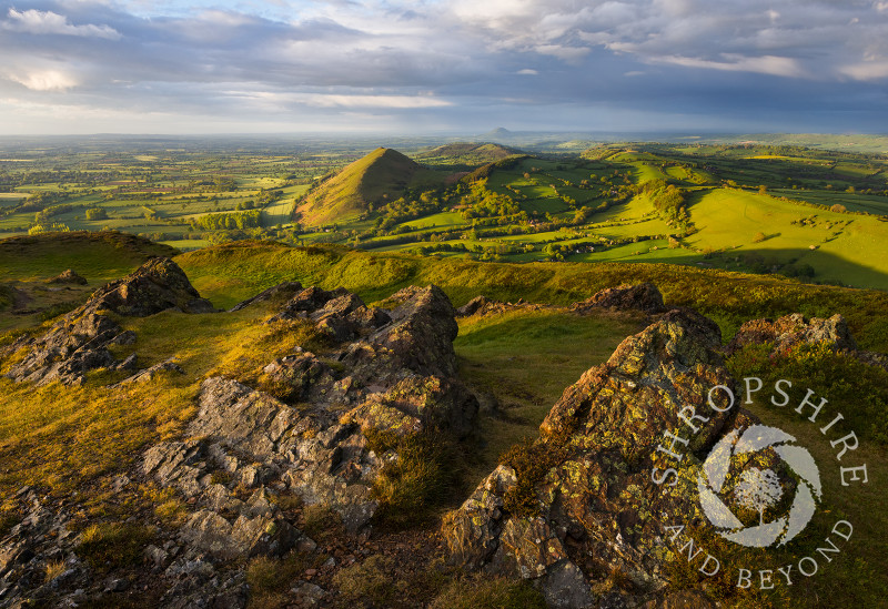 Evening light on Caer Caradoc and the Lawley, Shropshire.